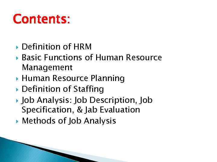 simple definition of human resource management