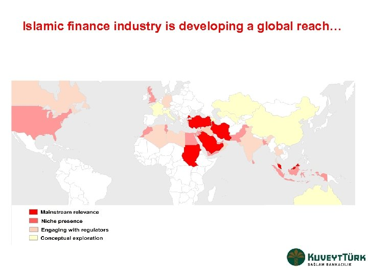 Islamic finance industry is developing a global reach…