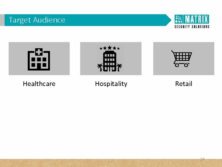 Target Audience Healthcare Hospitality Retail 24