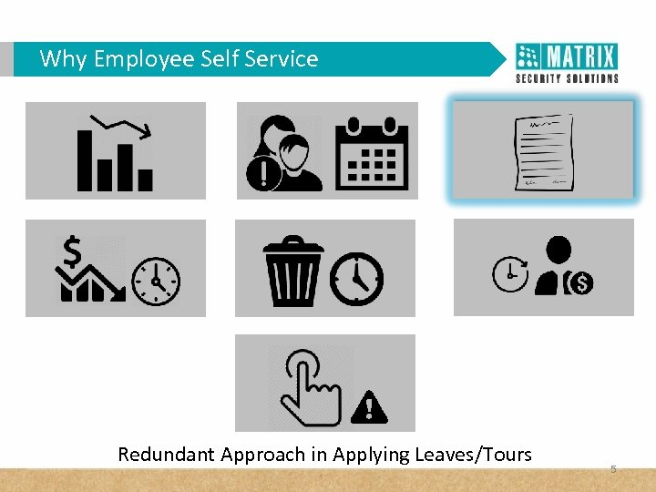Why Employee Self Service Redundant Approach in Applying Leaves/Tours 5