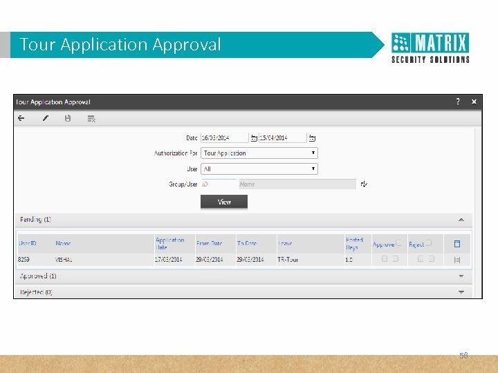 Tour Application Approval 56