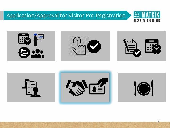 Application/Approval for Visitor Pre-Registration 61