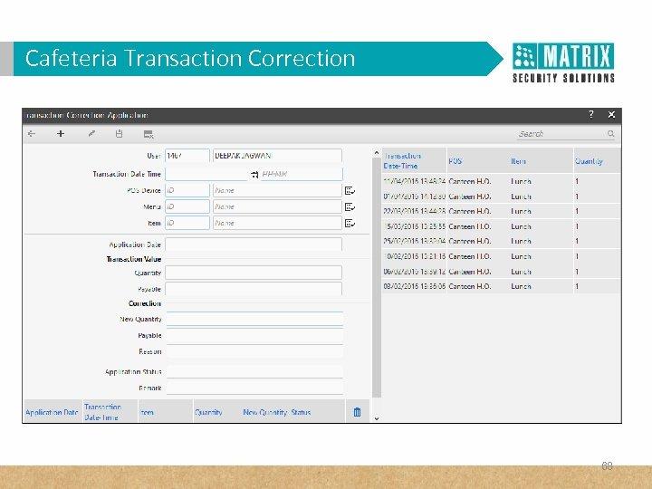 Cafeteria Transaction Correction 68