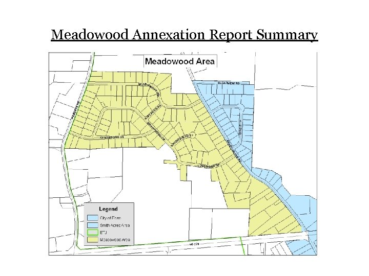 Meadowood Annexation Report Summary