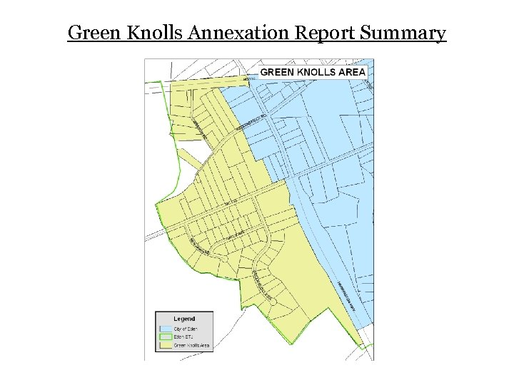 Green Knolls Annexation Report Summary