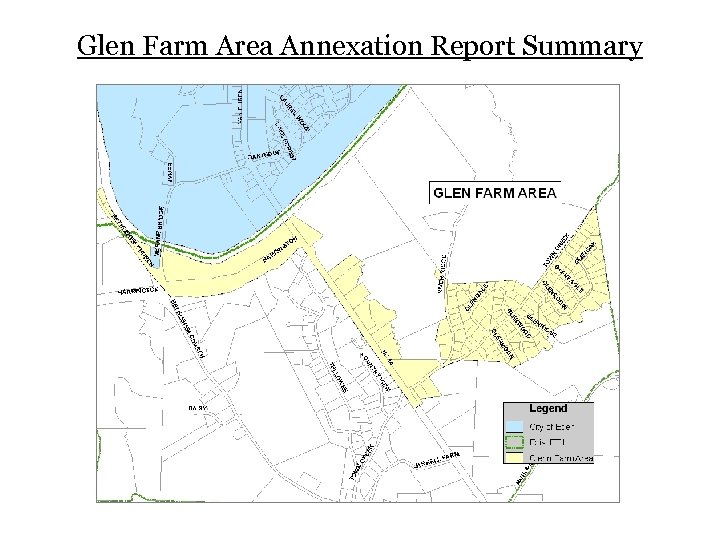 Glen Farm Area Annexation Report Summary