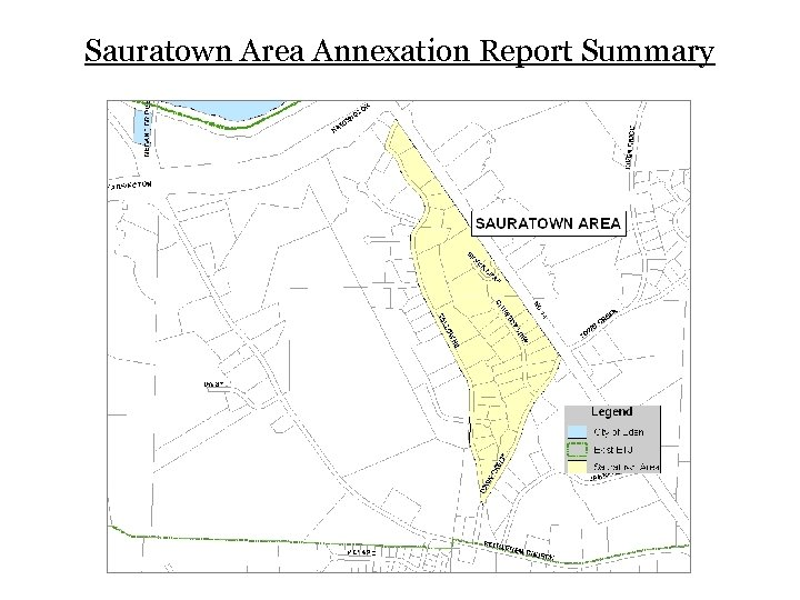 Sauratown Area Annexation Report Summary