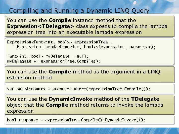 Module 14 Using LINQ to Query Data