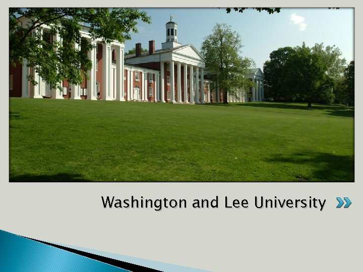 Add demographics here Washington and Lee University