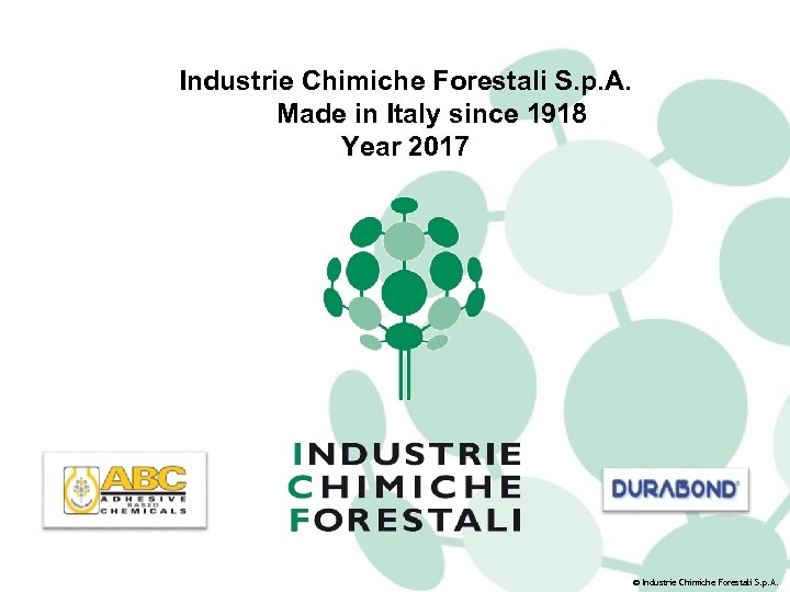Industrie Chimiche Forestali S. p. A. Made in Italy since 1918 Year 2017 ©