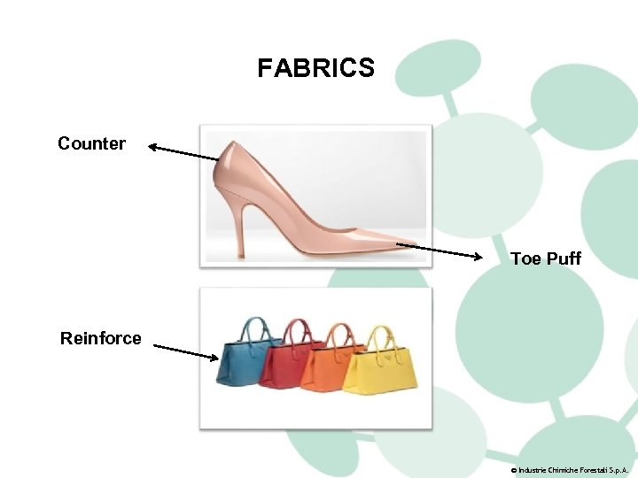 FABRICS Counter Toe Puff Reinforce © Industrie Chimiche Forestali S. p. A.