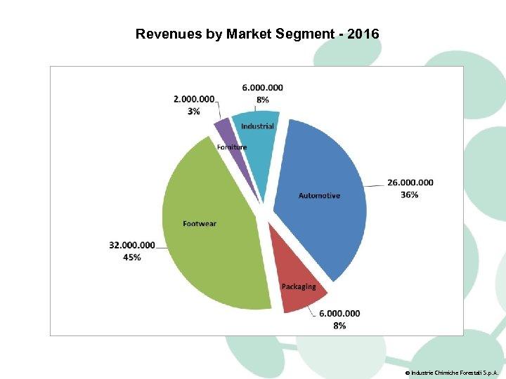 Revenues by Market Segment - 2016 © Industrie Chimiche Forestali S. p. A.