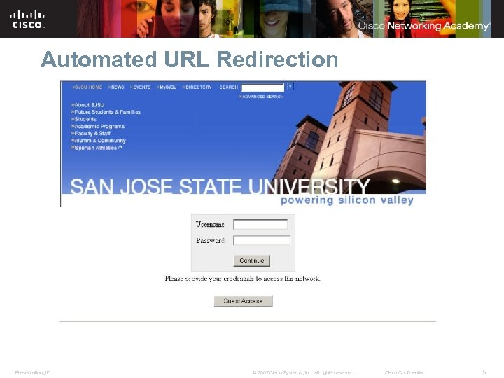 Automated URL Redirection Presentation_ID © 2007 Cisco Systems, Inc. All rights reserved. Cisco Confidential