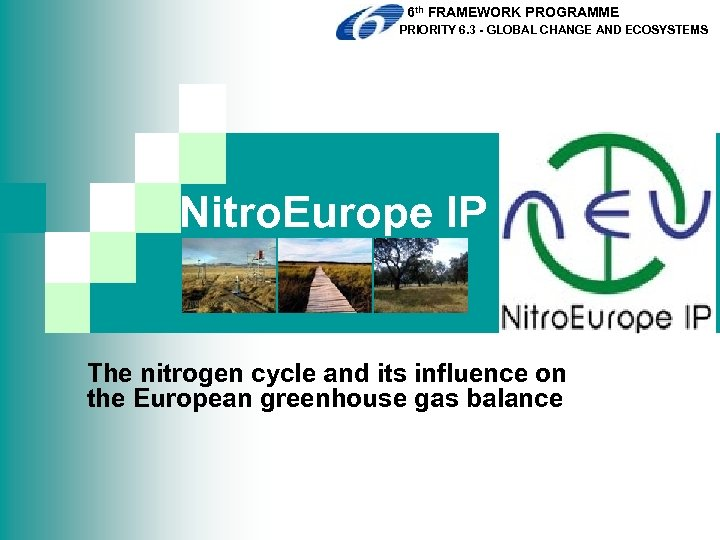 6 th FRAMEWORK PROGRAMME PRIORITY 6. 3 - GLOBAL CHANGE AND ECOSYSTEMS Nitro. Europe
