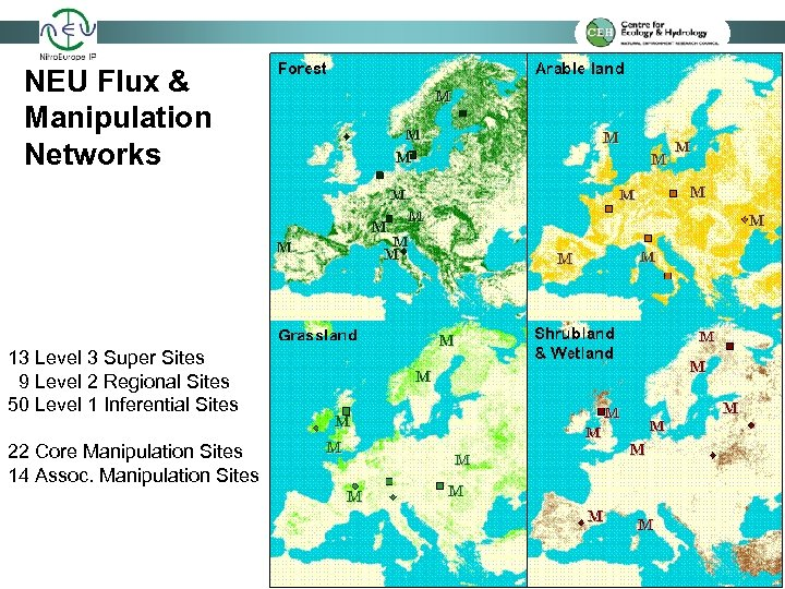 NEU Flux & Manipulation Networks 13 Level 3 Super Sites 9 Level 2 Regional
