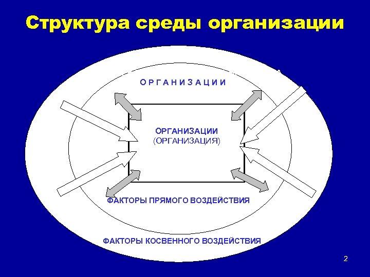 Структура среды организации В Н Е Ш Н Я Я (О К Р У