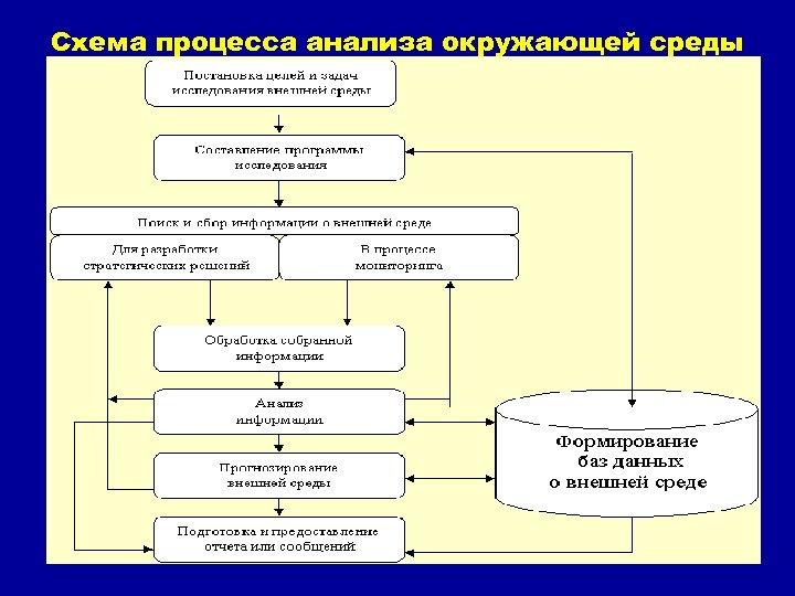 Схема процесса анализа окружающей среды 31