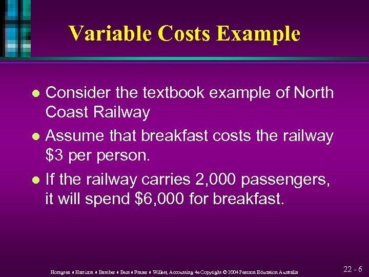 Cost-Volume-Profit Analysis Chapter 22 HORNGREN HARRISON
