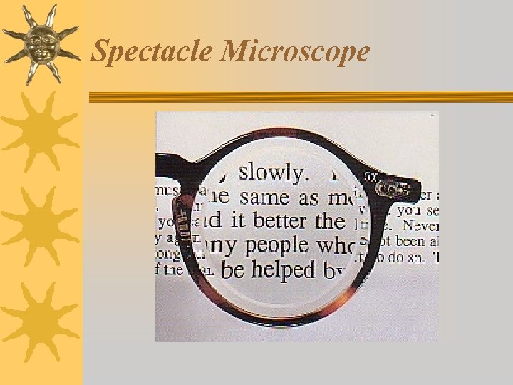 Spectacle Microscope