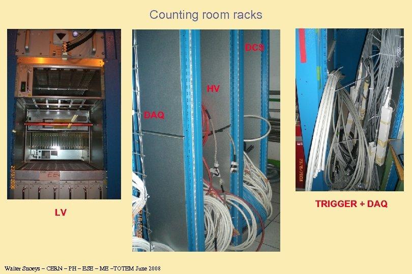 Counting room racks DCS HV DAQ LV Walter Snoeys – CERN – PH –