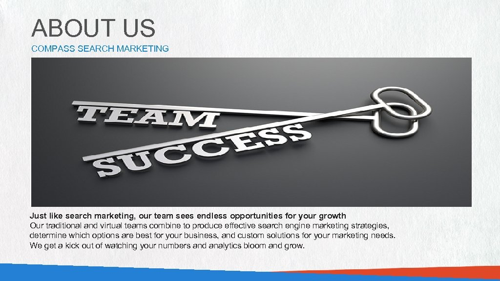 ABOUT US COMPASS SEARCH MARKETING PHOTO OF STAFF OR WORKPLACE (889 W X 285