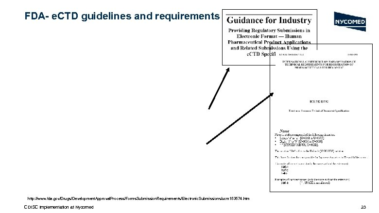 FDA- e. CTD guidelines and requirements http: //www. fda. gov/Drugs/Development. Approval. Process/Forms. Submission. Requirements/Electronic.