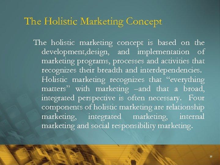 components of holistic marketing
