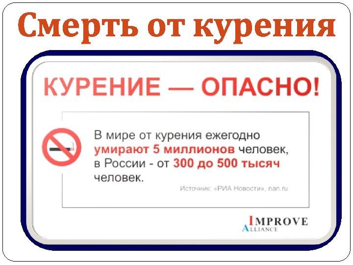 Смерть от курения