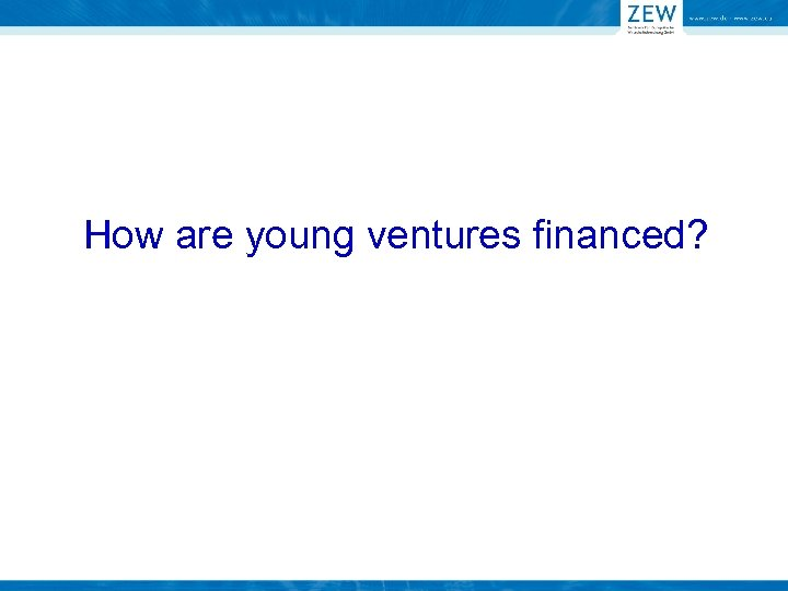 How are young ventures financed?
