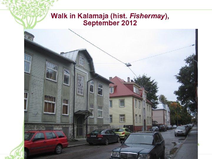 Walk in Kalamaja (hist. Fishermay), September 2012