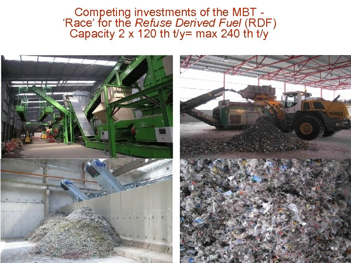 Competing investments of the MBT 'Race' for the Refuse Derived Fuel (RDF) Capacity 2