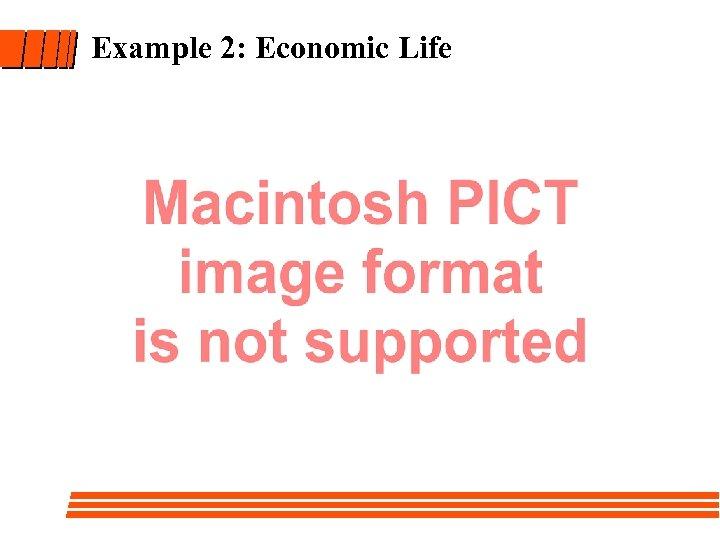 Example 2: Economic Life