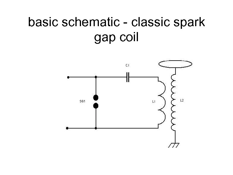 basic schematic - classic spark gap coil