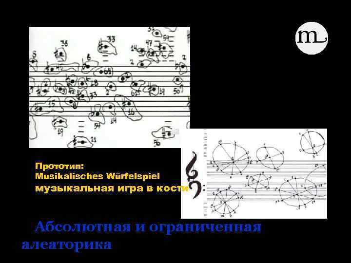 happening happen Прототип: Musikalisches Würfelspiel музыкальная игра в кости Абсолютная и ограниченная алеаторика