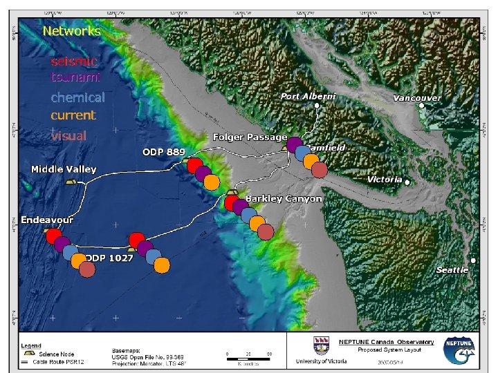 Networks seismic tsunami chemical current visual