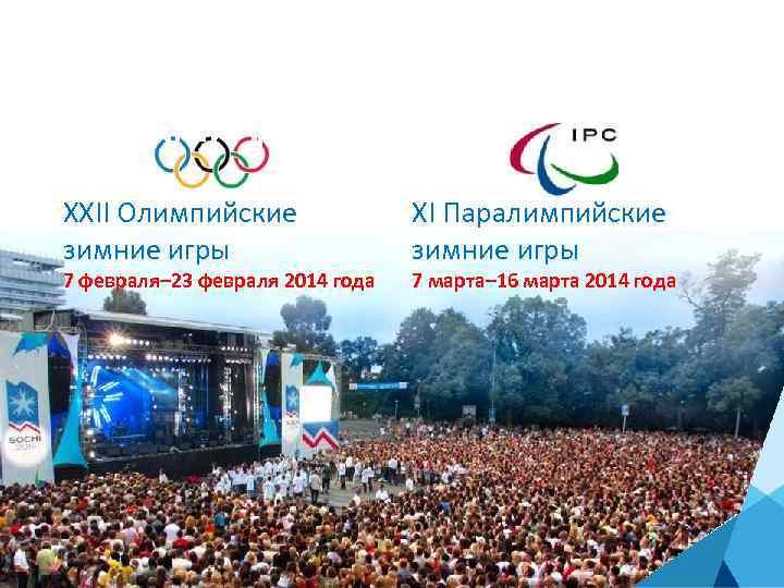 ОСОБАЯ ЗНАЧИМОСТЬ ДОБРОВОЛЬЧЕСТВА: ОЛИМПИАДА СОЧИ 2014 XXII Олимпийские зимние игры 7 февраля– 23 февраля
