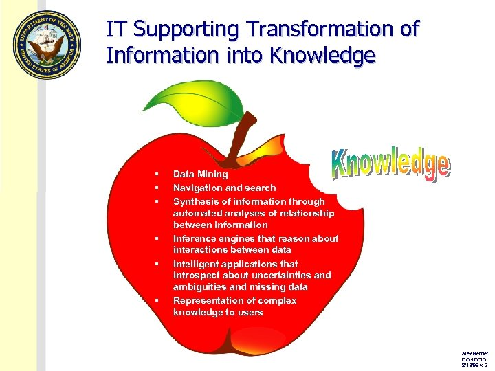 IT Supporting Transformation of Information into Knowledge § § § Data Mining Navigation and