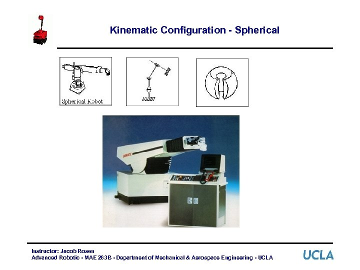 Kinematic Configuration - Spherical Instructor: Jacob Rosen Advanced Robotic - MAE 263 B -