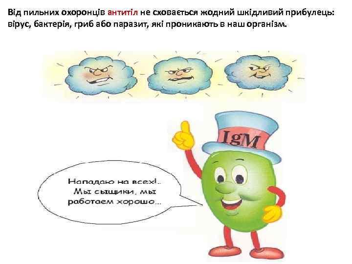 Від пильних охоронців антитіл не сховається жодний шкідливий прибулець: вірус, бактерія, гриб або паразит,