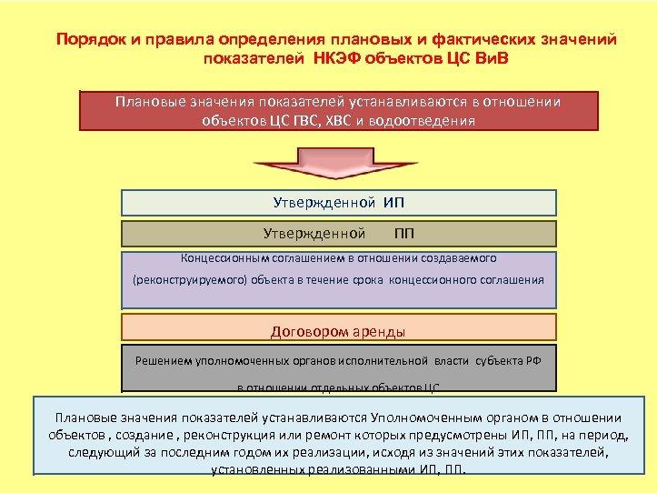 Порядок и правила определения плановых и фактических значений показателей НКЭФ объектов ЦС Ви. В