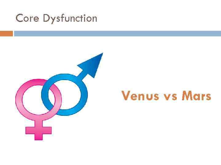 Core Dysfunction Venus vs Mars