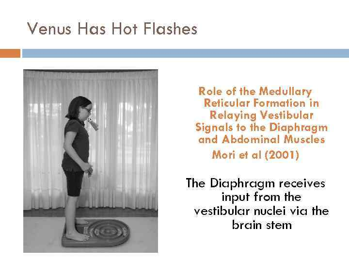 Venus Has Hot Flashes Role of the Medullary Reticular Formation in Relaying Vestibular Signals