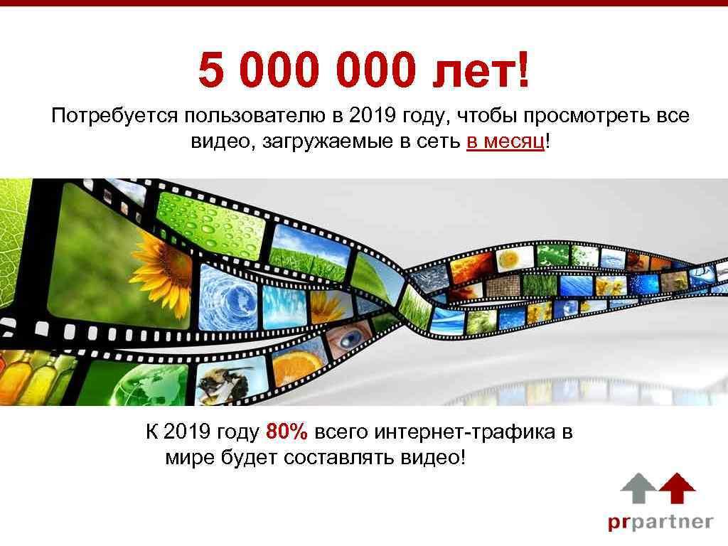5 000 лет! Потребуется пользователю в 2019 году, чтобы просмотреть все видео, загружаемые в