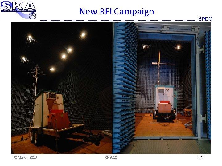 New RFI Campaign 30 March, 2010 RFI 2010 SPDO 19
