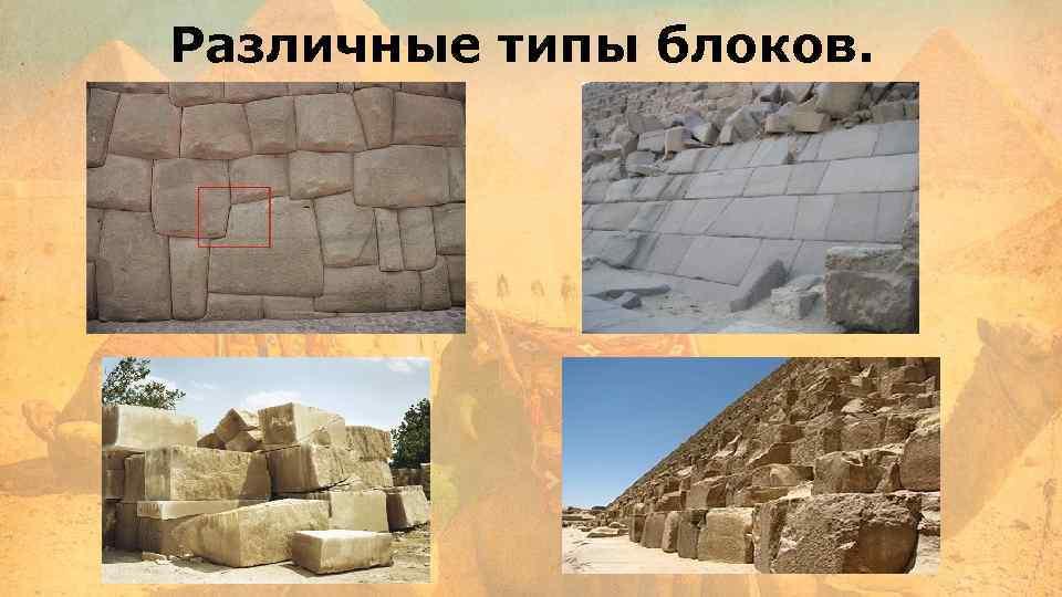 Различные типы блоков.