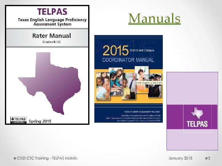 Manuals CISD CTC Training - TELPAS Holistic January 2015 2