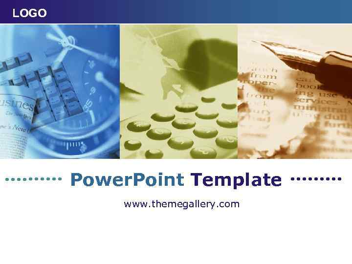 LOGO Power. Point Template www. themegallery. com