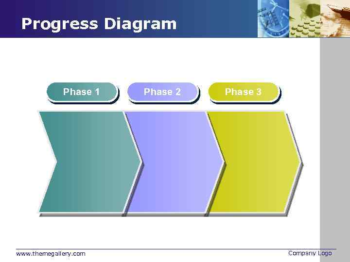 Progress Diagram Phase 1 www. themegallery. com Phase 2 Phase 3 Company Logo