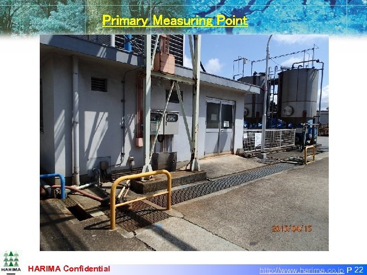Primary Measuring Point HARIMA Confidential http: //www. harima. co. jp P 22