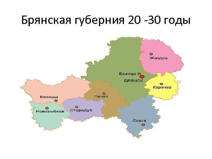 Брянская губерния 20 30 годы
